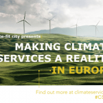 "Cláudia Pascoal at the conference ""Making Climate Services a Reality in Europe"", Brussels"