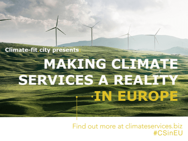 """Cláudia Pascoal at the conference """"Making Climate Services a Reality in Europe"""", Brussels"""